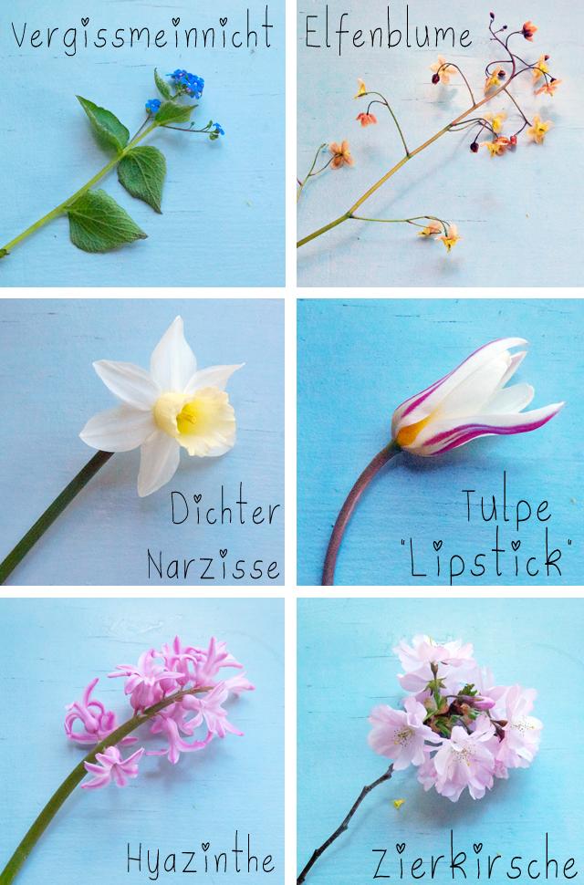 Blumen zusammen