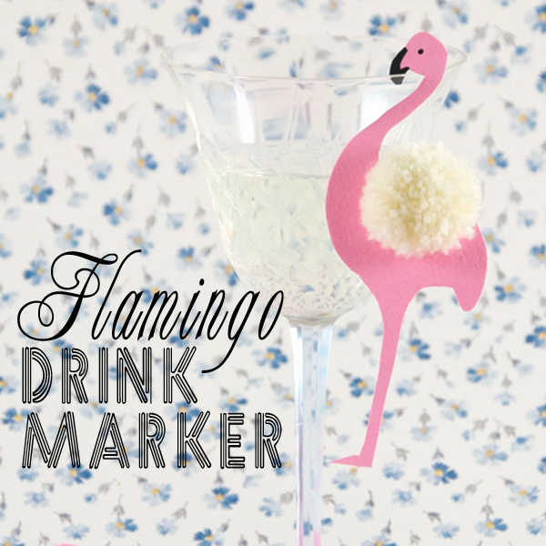Flamingo Drink Marker