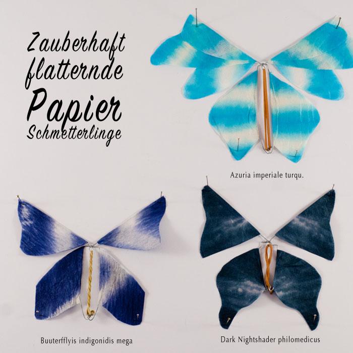 Flattrende_Papier_Schmetterlinge