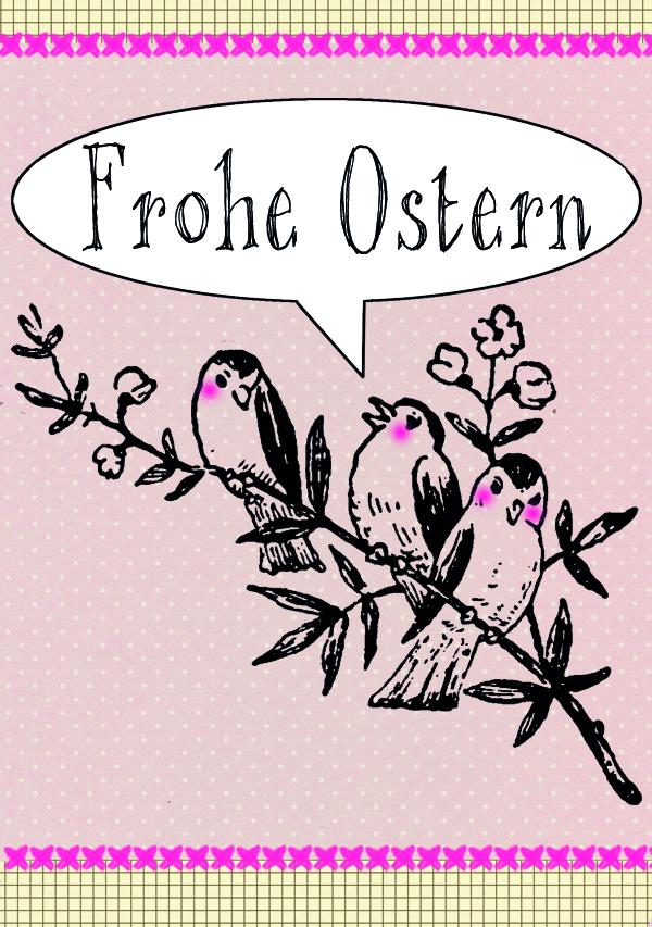 Frohe Ostern Vögel-blog