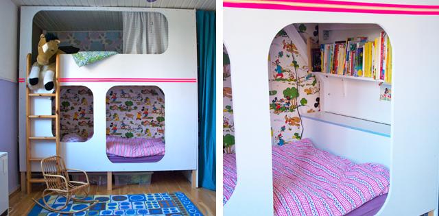 Ein selbst gebautes Hochbett für Kinder