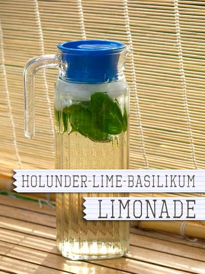 Holunder-Lime-Basilikum Limonade
