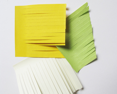 geschnittene Post-Its