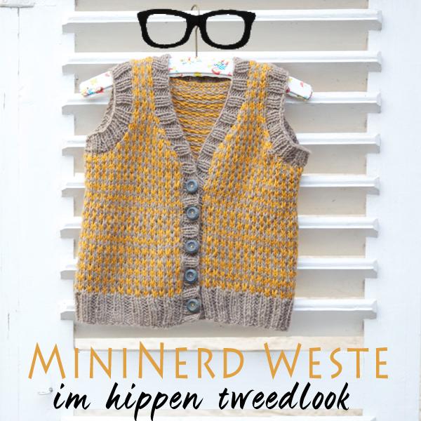 Nerd-Tweed-Weste