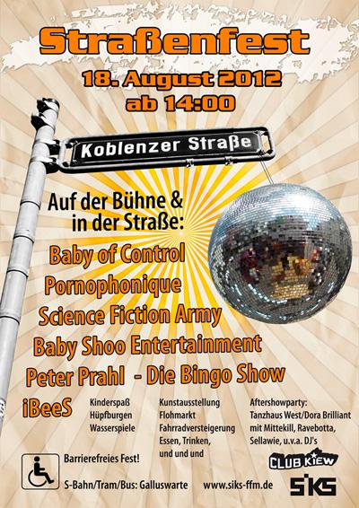 SIKS-Straßenfest Plakat