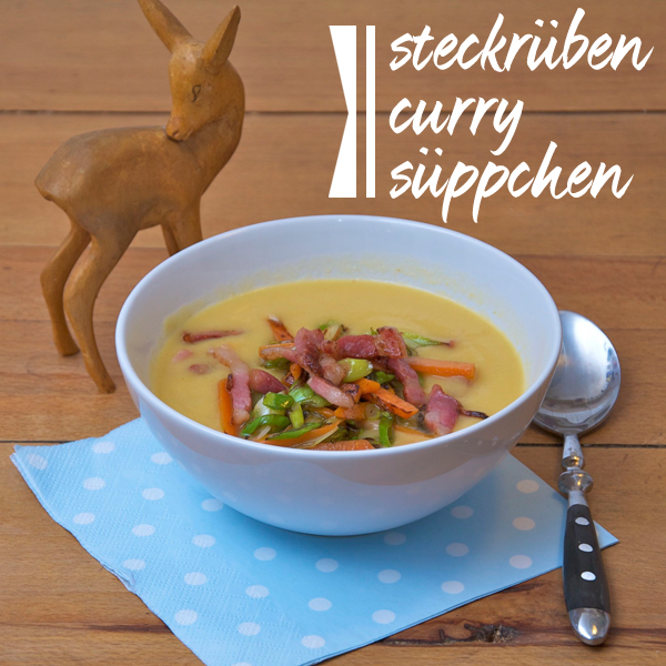 Steckrüben-Curry-Suppe