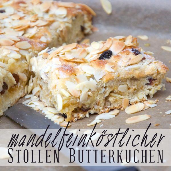 Stollen-Butterkuchen closeup