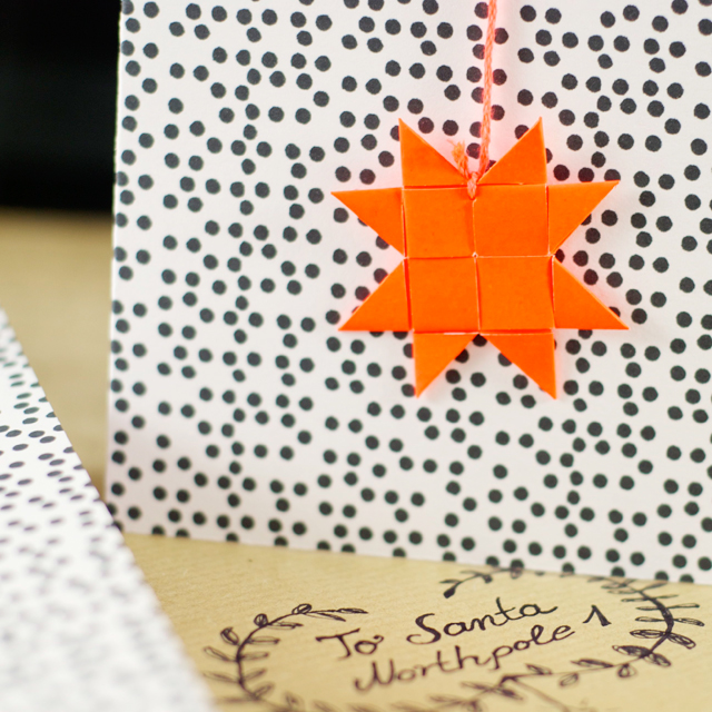 Weihnachtskarte_Froebelstern_Detail