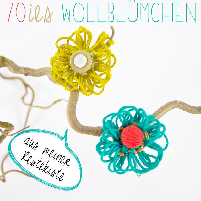 Wollblumen Brosche