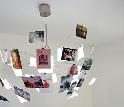 Zettel-Lampe