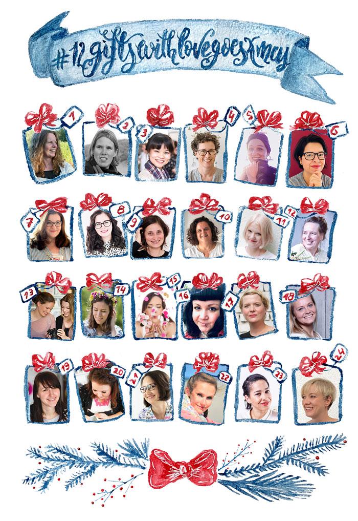 12giftswithlovegoesxmas: Übersicht aller teilnehmenden Bloggerinnen