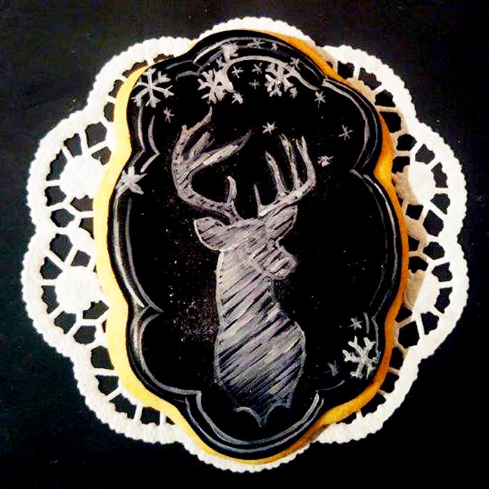 Türchen No. 11 : Kunstvoll dekorierte Kekse mit Käthes Kekse, ein Tutorial für Keksverzierungen im Chalkboard Style und ein köstlich-schöner Gewinn.