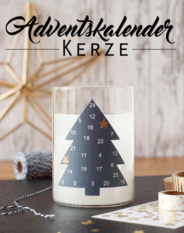 Eine DIY Adventskalender Kerze für entspannte Momente im Weihnachtsstress. Ein Tutorial von johannarundel.de