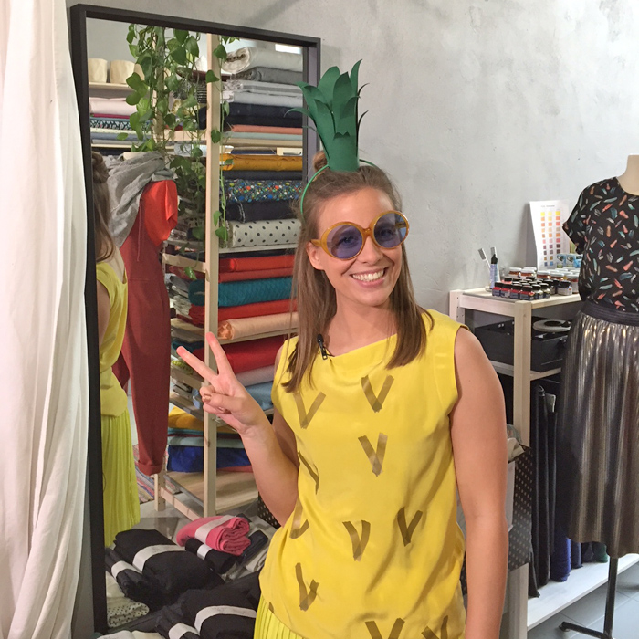 DIY Last-Minute Kostüm Ananas