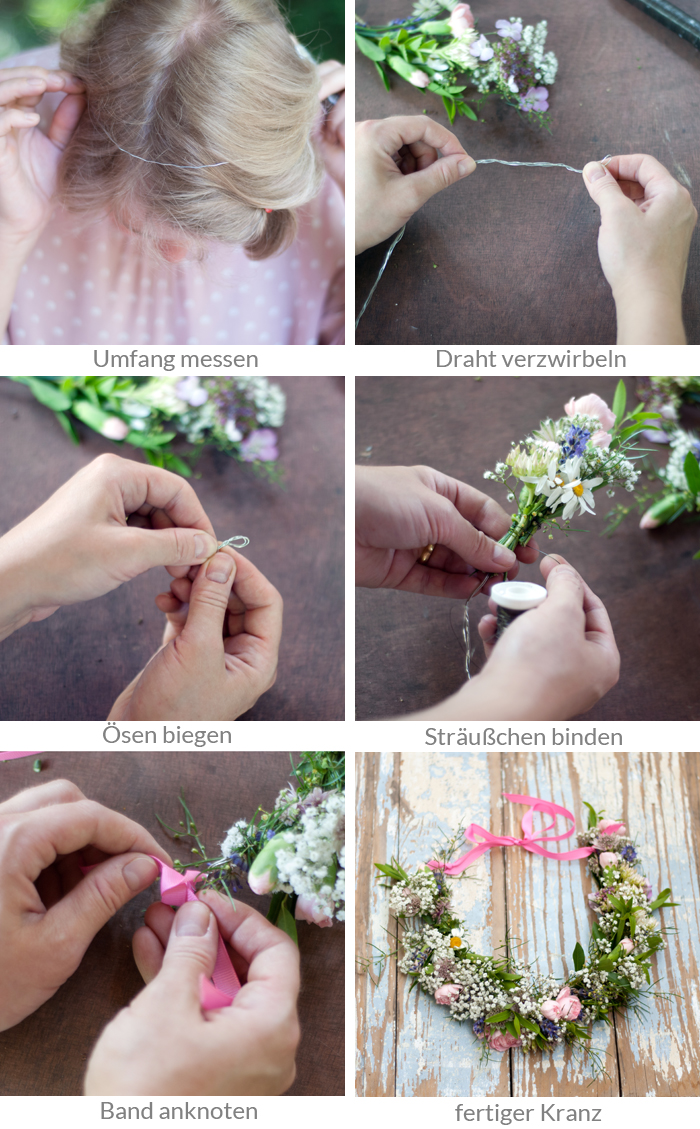 Für den JGA meiner Schwester haben wir wunderschöne DIY Blumenkränze aus frischen Blüten und Blättern gebunden. Und auch wenn du nicht vorhast in den nächsten Wochen zu heiraten, gibt es einen im Juni noch einen anderen Anlass sich mit Blumen zu schmücken: Es ist Midsommar!