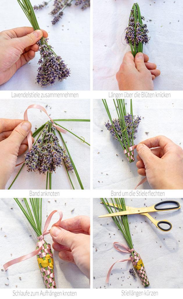 Liebst du den Duft von Lavendel ebenso sehr wie ich? Dann hole dir den herrlichen Sommerduft doch ins Haus. Ich zeige dir, wie du aus den Blütenstielen klassische, provençalische Duftkolben webst. Los geht´s!