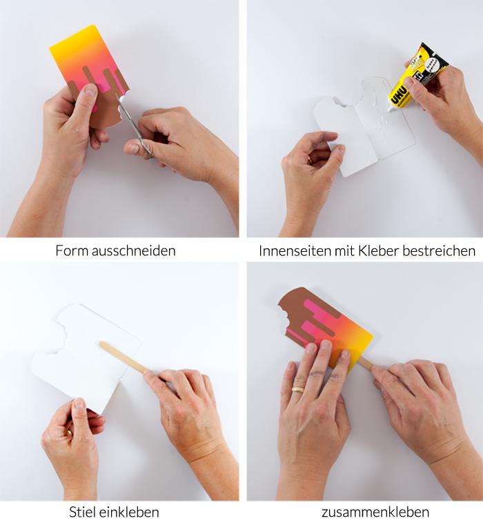 DIY Eis-am-Stiel Einladungskarten: Ein perfektes Sommer-Printable zum kostenlosen Download. Feiert schön! Von johannarundel.de