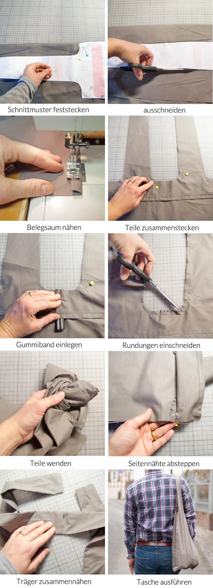 Super praktische DIY 2-in-1 Falttasche