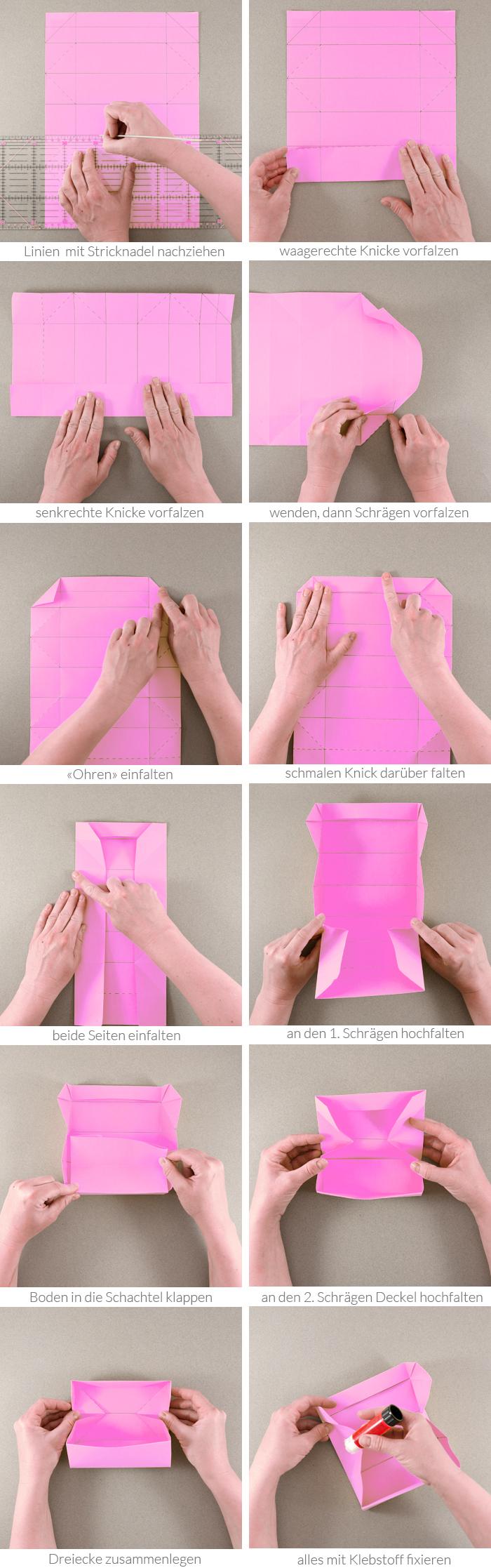 Schnell Gefaltete Diy Origami Geschenk Schachteln