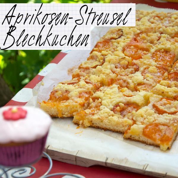 Schmetterlingsgeburtstagsparty mit Aprikosen-Streusel-Blechkuchen