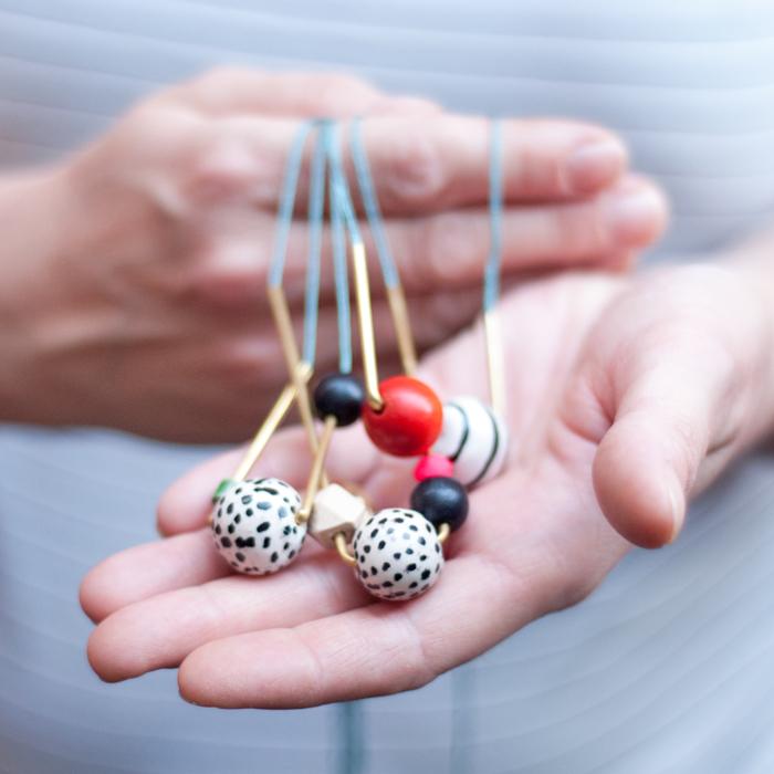 DIY Schmuck aus Perlen und Messingrohr