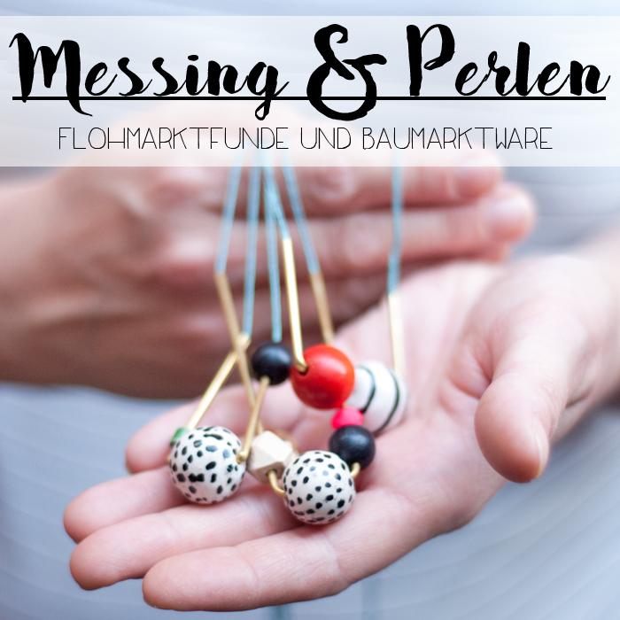 DIY Statement Kette mit Perlen & Messing | johannarundel.de