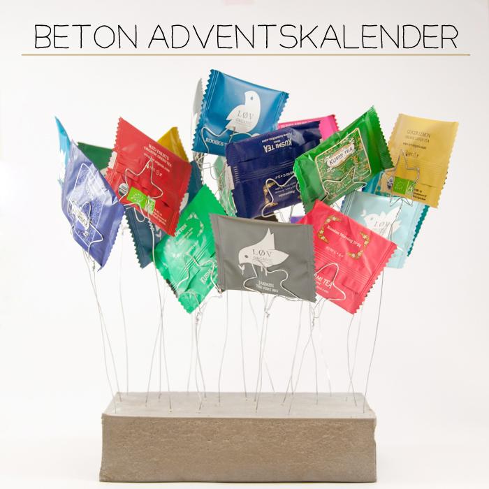 Ein DIY Adventskalender aus Draht und Beton. Aus Draht gewickelte Sterne halten z.B. Teebeutel, Briefumschläge oder Weihnachtskarten. Ein Tutorial von johannarundel.de