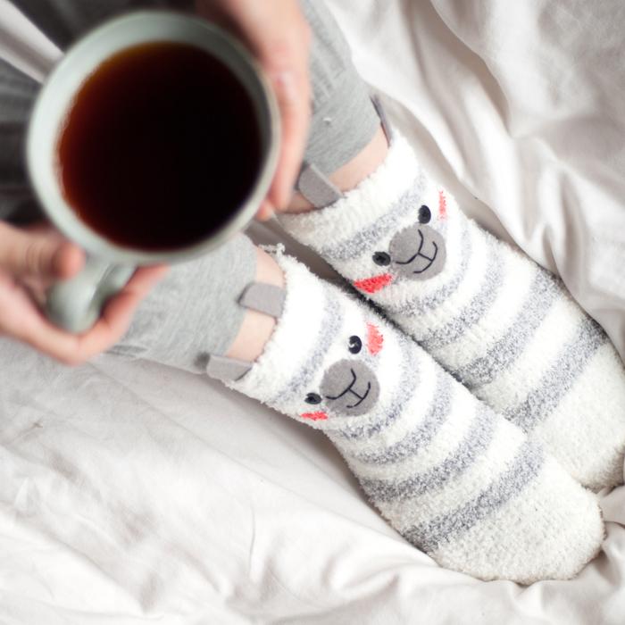 Kuschelig in den Herbst mit DIY Lama Socken