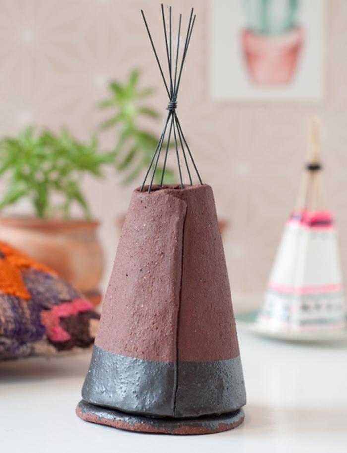 Wie du ein DIY Räucher-Tipi aus Modelliermasse basteln kannst und was das mit meinem Morgenritual zu tun hat, erfährst du auf www.johannarundel.de