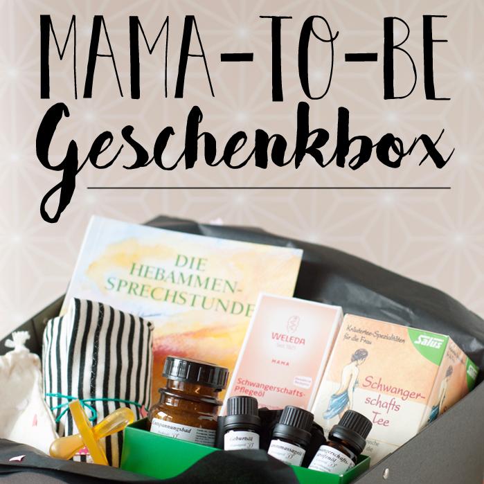 Mama-to-Be Geschenkschachtel und ein DIY Bauchband