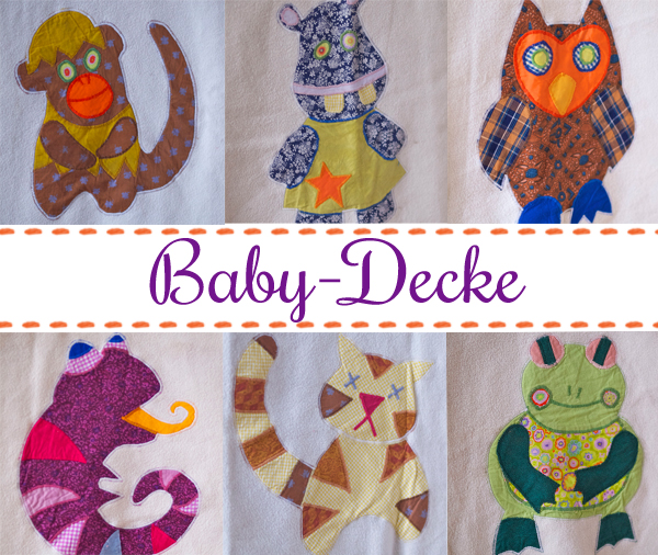 Tierisch schöne Baby-Decke