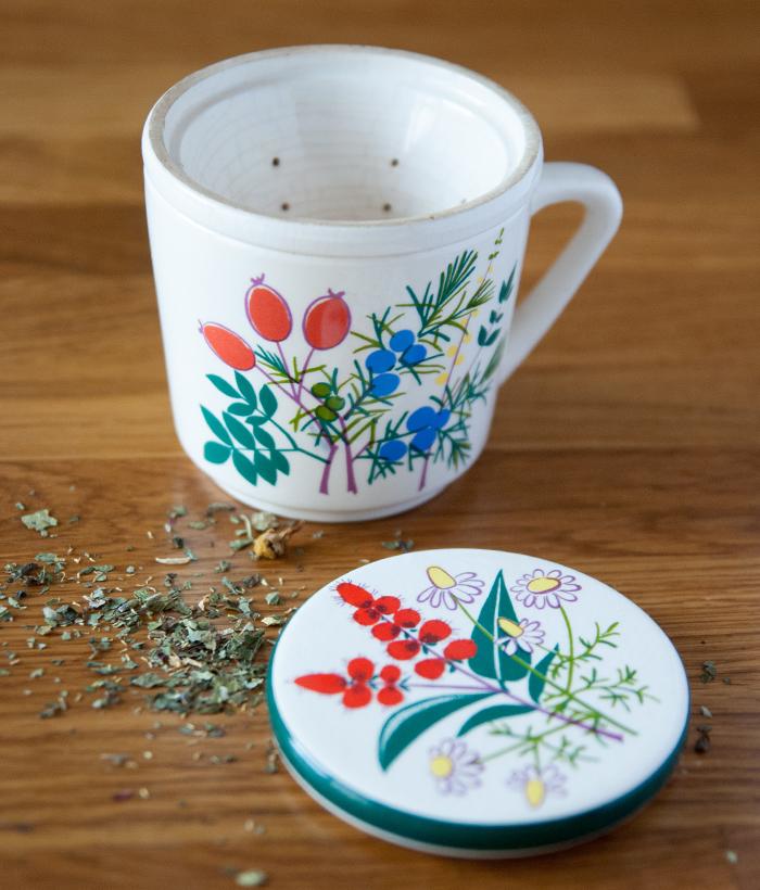 Flohmarktfunde: Blumentasse fuer Tee von Waechterbacher