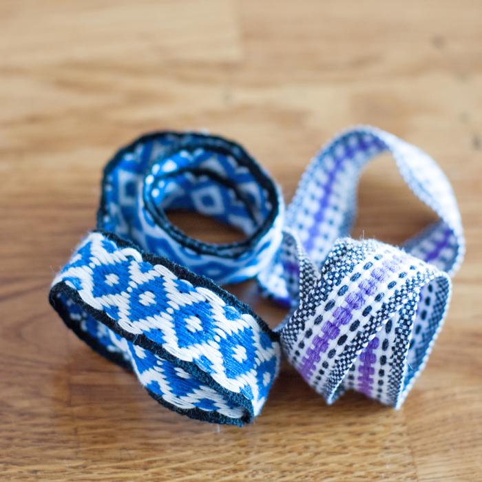 Flohmarktfund: Bänder und Borten in schönen Blautönen