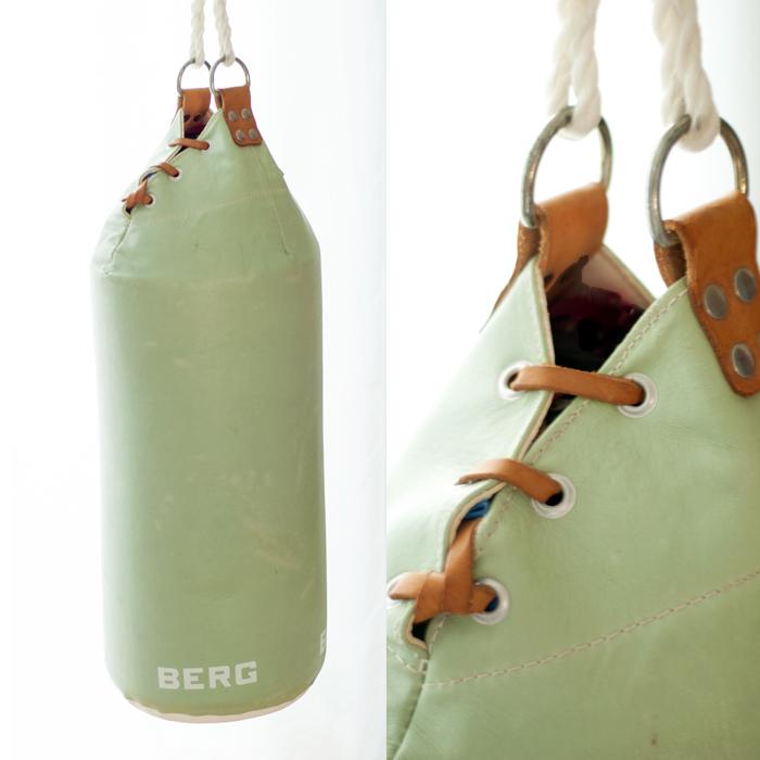 Boxsack aus mintfarbenen Leder