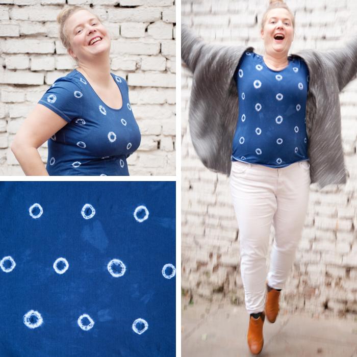 Mit dieser einfachen Shibori-Technik, kannst du dein Lieblingsshirt sogar in der Waschmaschine färben! Ein DIY Tutorial von johannarundel.de
