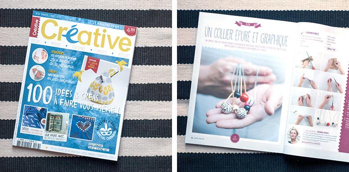 Ein Beitrag von mir ind der französischen DIY Zeitschrift Creative.