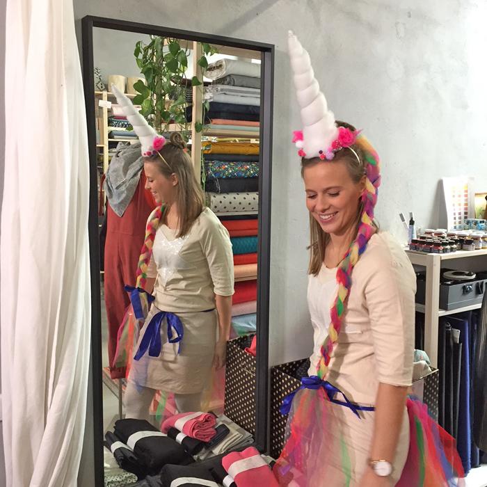 DIY Last-Minute Kostüm Einhorn