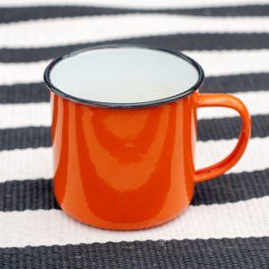 Flohmarkt Freitag - wunderbare Trödelmarkt - Funde auf johannarundel.de. Diesmal mit: einer knall-orange farbenen Emaille Tasse