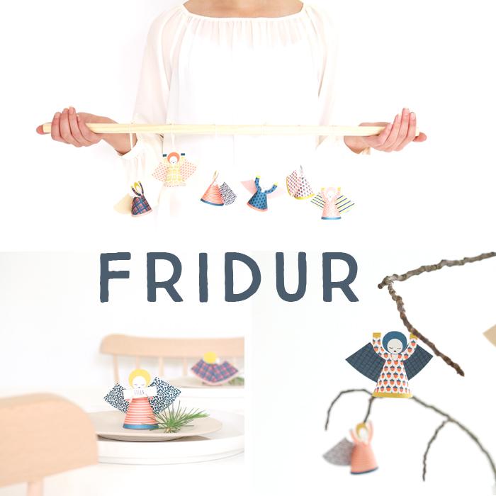 FRIDUR : Adventskalender Türchen Nummer Vier mit Sabine Wittig von la mesa und wunderschönen Papierengeln von Jurianne Matter