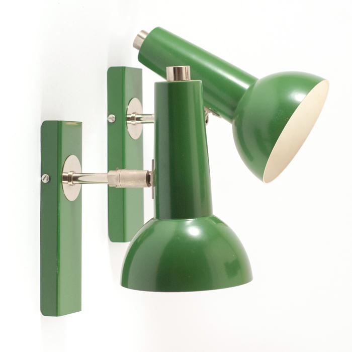 Flohmarktfund: Gruene retro Wandlampen