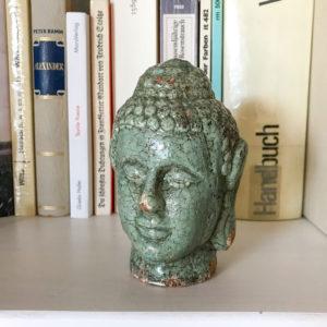Flohmarktfunde: Grüner Buddha aus Ton