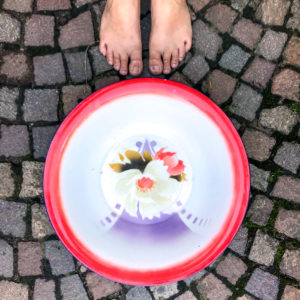 Flohmarktfunde: Grosse Emaille Schüssel