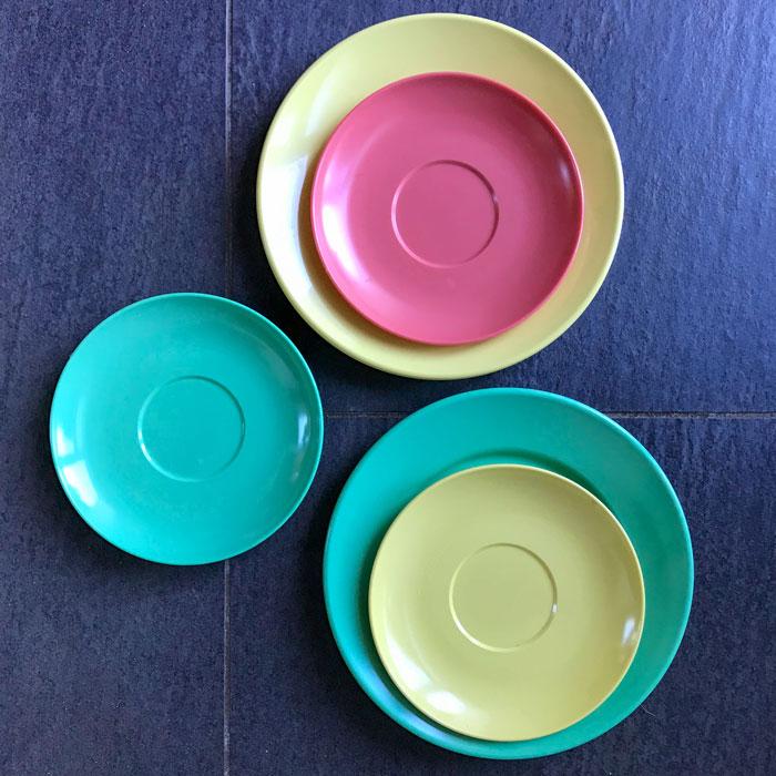 Flohmarktfunde: Original Melamin-Geschirr in Pastellfarben