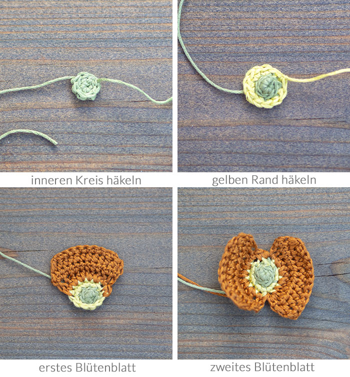 Diese ganz einfache gehäkelte Mohnblume gibt mit ihrem langen Stiel ein tolles Lesezeichen ab. Das ideale Geschenk für alle Leseratten und Blumen-Fans! Anleitung auf johannarundel.de