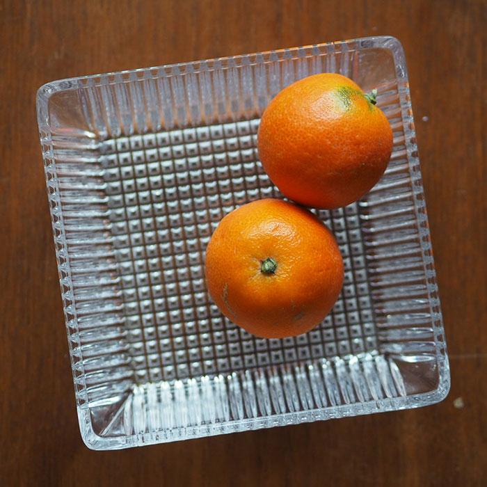 Flohmarktfunde: Quadratische Glasschale