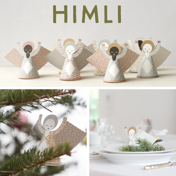 HIMLI : Adventskalender Türchen Nummer Vier mit Sabine Wittig von la mesa und wunderschönen Papierengeln von Jurianne Matter