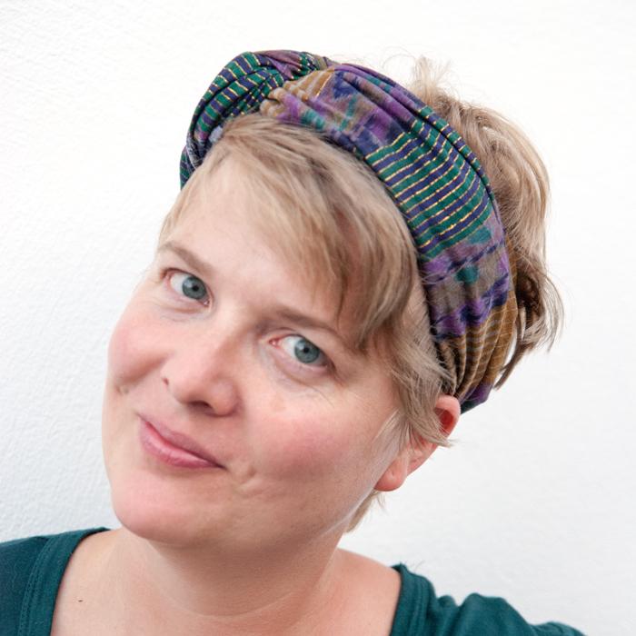Flohmarktfund: Ethno Tuch als Turban-Haarband