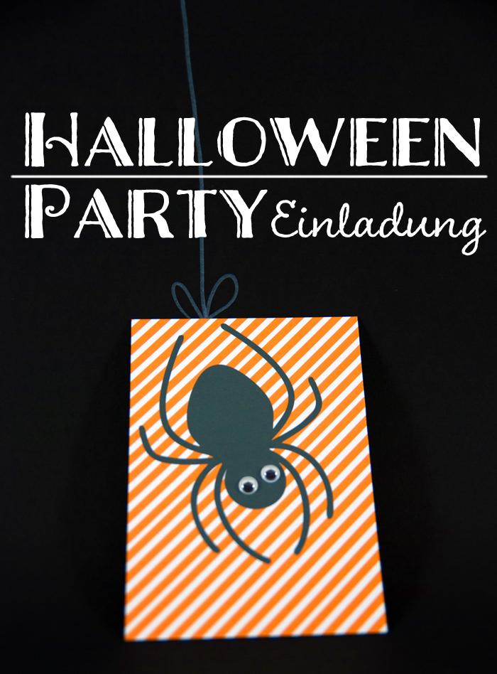 Bevorzugt Last Minute DIY Halloween-Party-Einladung als Freebie BV02