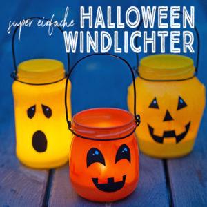 Boooh! Heute zeige ich dir eine süße Halloween-Dekoration, die du ganz einfach nachbasteln kannst: DIY Grusel-Kürbis-Windlichter. Alles was du dafür brauchst, sind leere Marmeladengläser, Sprühfarbe und ein bisschen schwarze Klebefolie. Los geht´s!