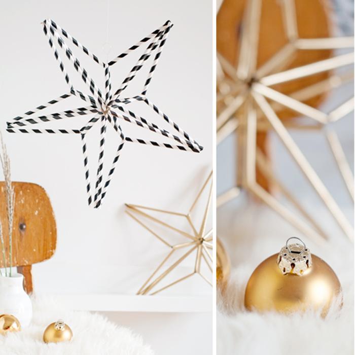 Ein DIY Himmeli Stern aus Papierstrohhalmen und Draht. Wunderschöne, Weihnachtsdeko im Scandi-Style. Ein Tutorial von johannarundel.de